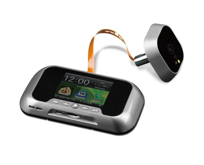 Dulimex DRS LCD DX28 Digitale deurspion met deurbel-165°-deurdikte 35-110mm-kijkgat 12-58mm-2.8 LCD