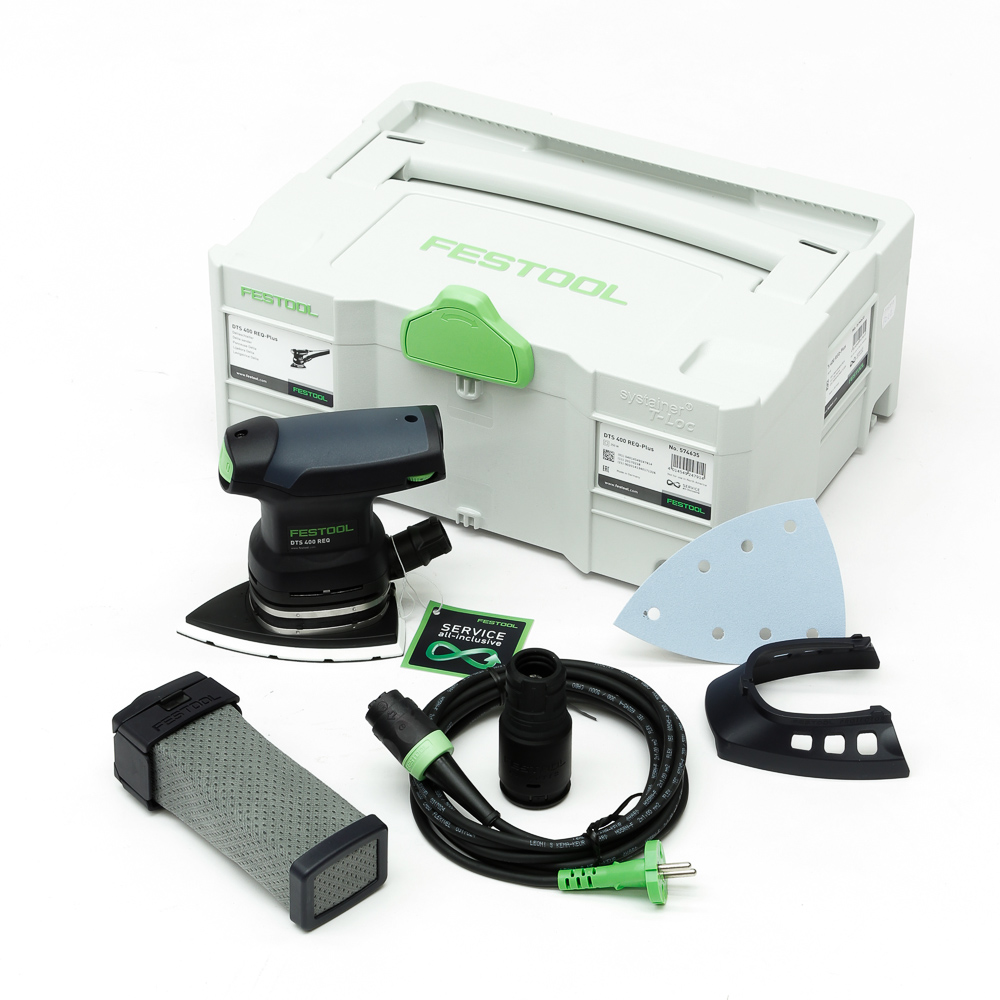 Festool dts 400 req plus deltaschuurmachine in systainer 574635