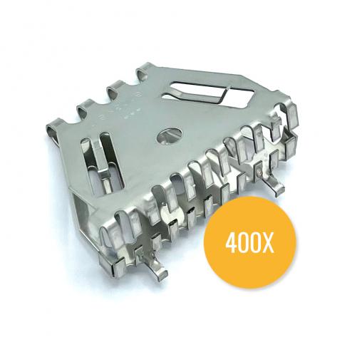 Bijenbekje 50mm - RVS (Doos van 400 stuks) - Stootvoegrooster
