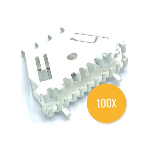 Bijenbekje 50mm - RAL 9010 Zuiver wit (Set van 100 stuks) - Stootvoegrooster