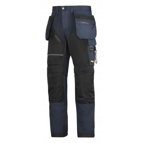 Snickers RuffWork broek met holsterzak navy zwart maat XL taille 54 W38