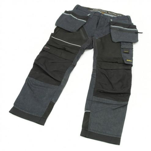Snickers RuffWork Denim broek met holsterzak spijker zwart maat L taille 52 W36