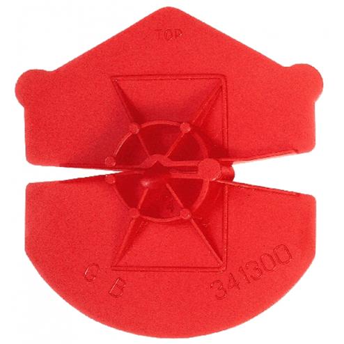 Gb Uniclip rood voor diameter 3.2-4.5 341300