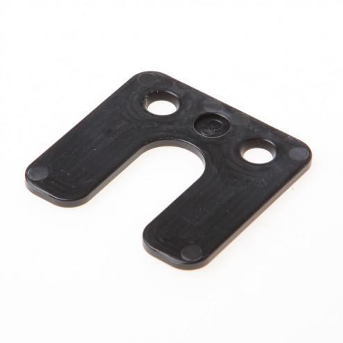 GB Drukplaat met sleuf zwart kunststof 70 x 70 x 3mm 34743
