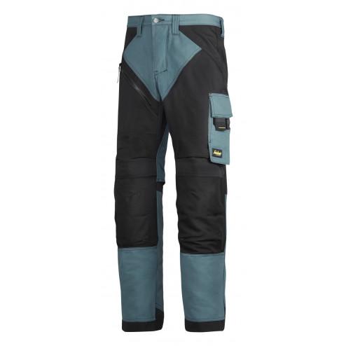 Snickers RuffWork broek petrol zwart maat XXXL taille 58 W42