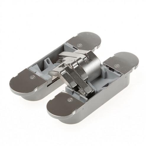 Onzichtbaar scharnier, 3D, type Hide 130-60, afmeting 130x30mm, glans nikkel
