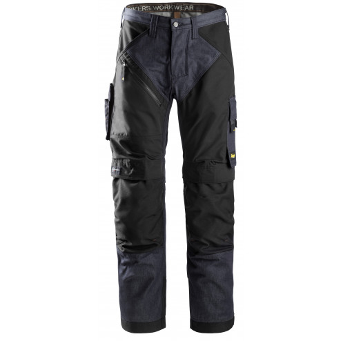 Snickers RuffWork Denim broek spijker zwart maat M taille 50 W34