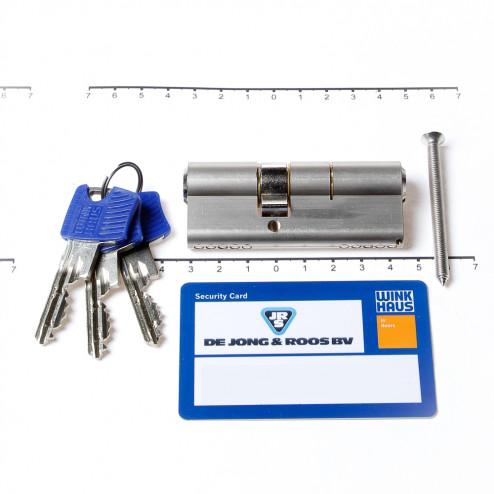Winkhaus Cilinder dubbel buiten x binnen 45/30mm voorzien van SKG ***, met certificaat en 3 sleutels