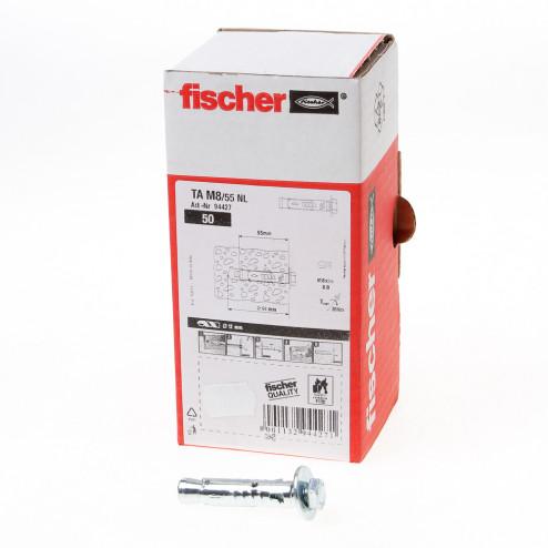 Fischer Hulsanker met tapbout verzinkt TA M8/55 NL