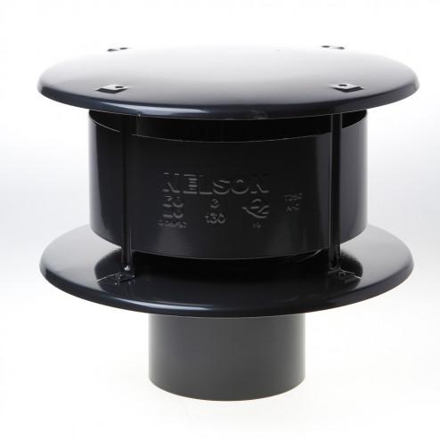 Wit & Zoon Trega-kap zwart 130mm
