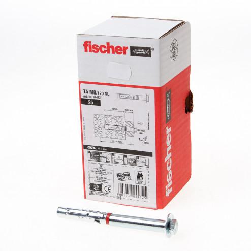 Fischer Hulsanker met tapbout verzinkt TA M8/120 NL