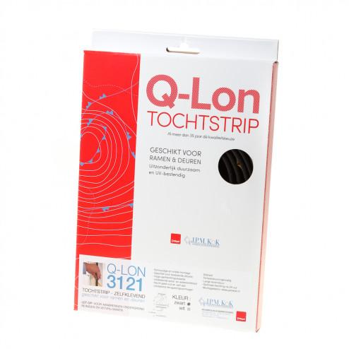 Q-lon Kader 3121 zwart zelfklevend 7 meter