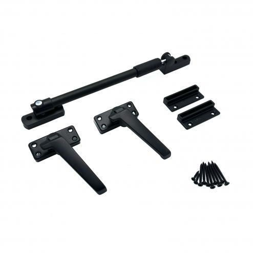 AXA raamsluitingset - zwart - 3308-31-38 - buitendraaiend DR.3 - Inclusief teleuitzetter 30 cm