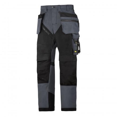 Snickers RuffWork broek met holsterzak grijs zwart maat L taille 52 W36