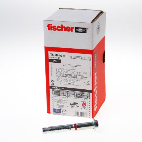 Fischer Hulsanker met tapbout verzinkt TA M8/90 NL