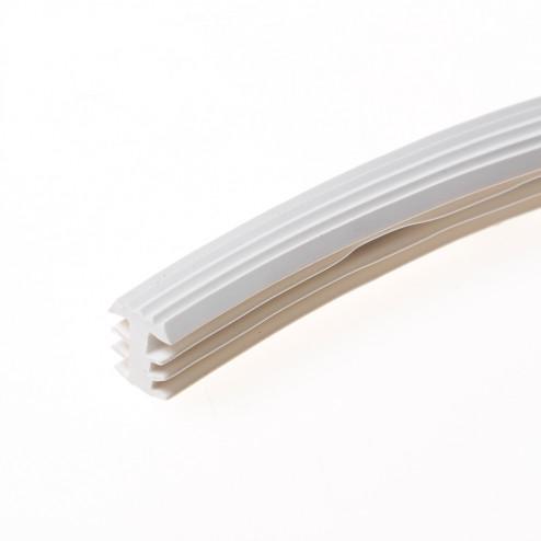 Heering Inleg trapstrip kunststof met T-Profiel wit antislipprofiel 8 x 11mm