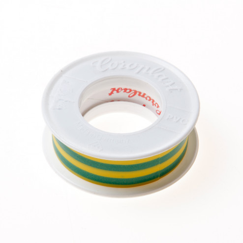 Coroplast 302 tape groen/geel 15mm x 4.5 meter