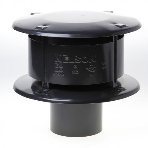 Wit & Zoon Trega-kap zwart 110mm