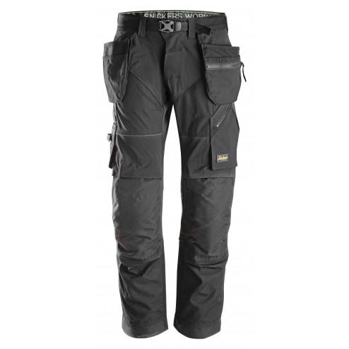 Snickers FlexiWork broek met holsterzak zwart maat L taille 52 W36