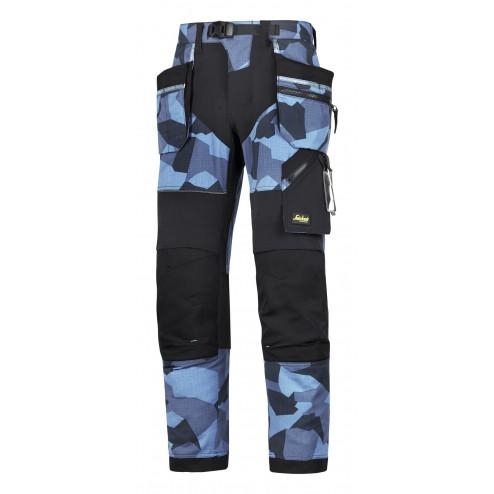 Snickers FlexiWork broek met holsterzak navy camo zwart maat XXL taille 56 W40