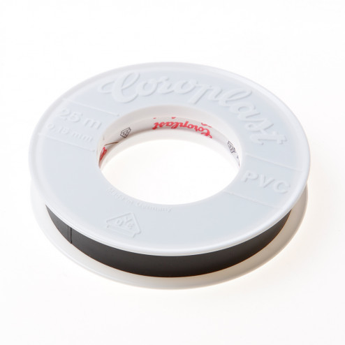 Coroplast 302 tape zwart 15mm x 25 meter