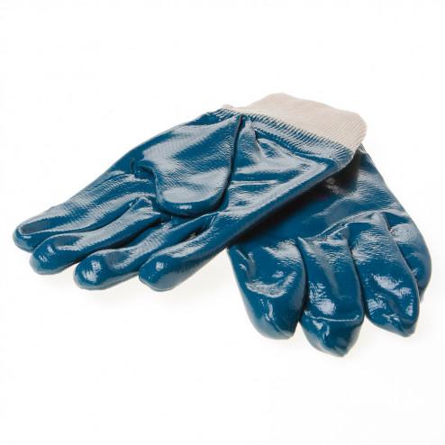 Handschoen latex blauw volgecoat maat XL(10)