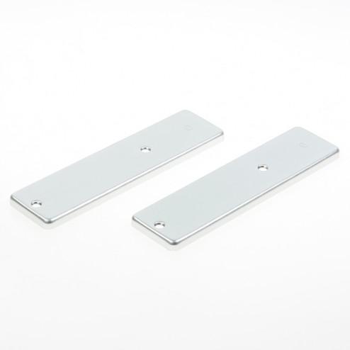 Hoppe Kortschild, aluminium 202kp zonder krukgat blind zilver
