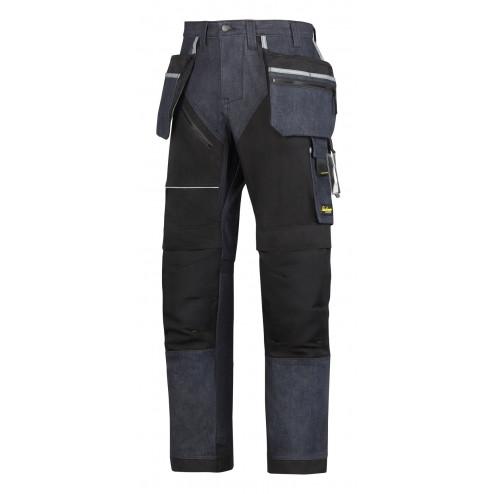 Snickers RuffWork Denim broek met holsterzak zwart maat M taille 50 W34