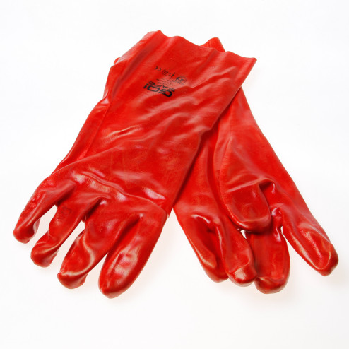 Handschoen ocean PVC rood 35cm maat XL(10)
