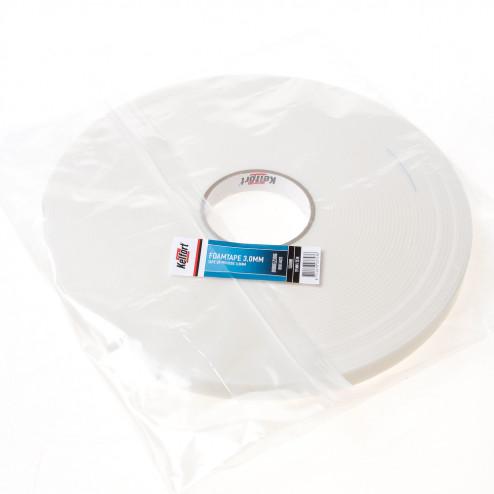 Kelfort Foam tape dubbelzijdig 3.0mm x 19mm x 25 meter