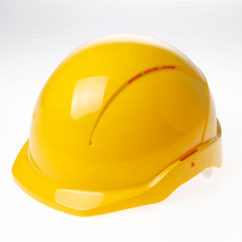 Briton Veiligheidshelm cent korte klep roofer geel