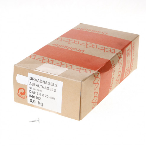 Asfaltnagel gegalvaniseerd 3.0 x 20mm 940102