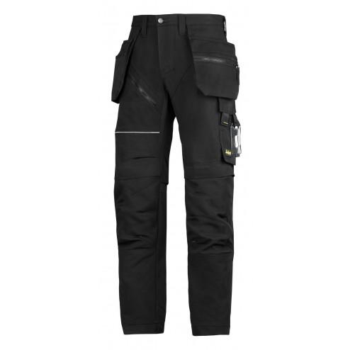 Snickers RuffWork broek met holsterzak zwart maat XXL taille 56 W40