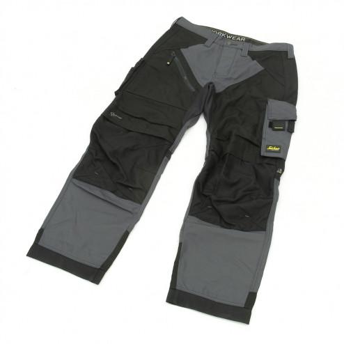 Snickers RuffWork broek grijs zwart maat S taille 48 W32