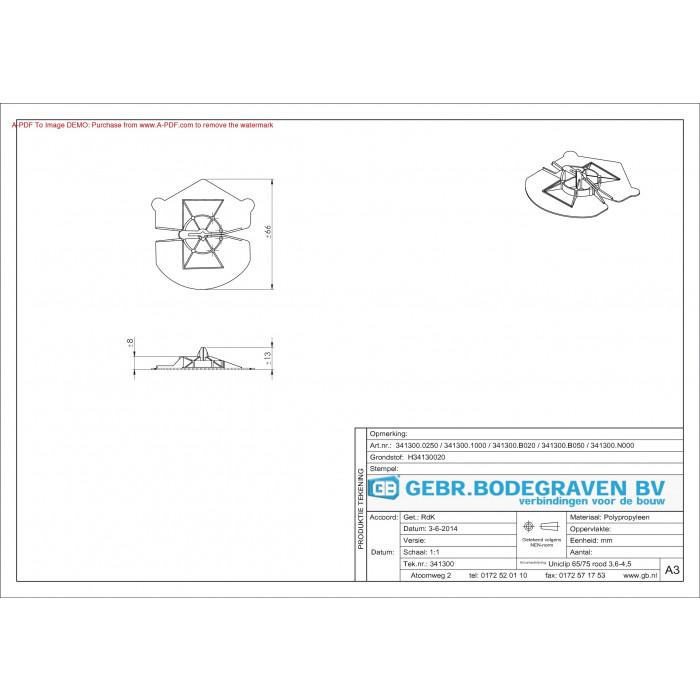 Gb Uniclip Rood Voor Diameter 32 45 341300