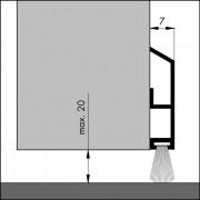 Ellen Tochtprofiel aluminium met borstel ads-b-100 100cm