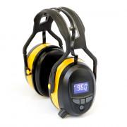 Gehoorbeschermer met digitale radio, Bluetooth en ingebouwde MP3. In de kleur geel.