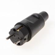 Stekker zwart rubber 220v