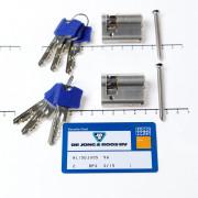 Winkhaus Sets cilinder enkel (2 stuks) buiten x binnen 0/30mm voorzien van SKG *** met certificaat en 6 sleutels