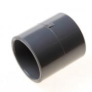 Dyka Steekmof 2x lijmmof PVC-U grijs keurmerk KIWA K17301 63mm