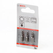 Bosch Bitskaart inbus 2.5mm blister van 3 bits