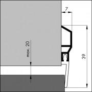 Ellen Dorpelstrip slijtdorpel acrylaatbestendig ads 100cm