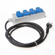 Hateha Verdeelblok 2p + a 5 delig 3 meter kabel