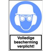 Artelli Sticker Volledige bescherming verplicht!