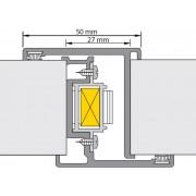 Alprokon P-deurnaald met kantschuif en slot Prefab-2000/40 mm-N.4119/27/Geb. 2200mm