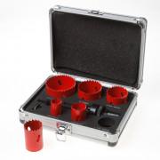 Kelfort Gatzaagset Bi-metaal Elektricien aluminium koffer 22-64mm