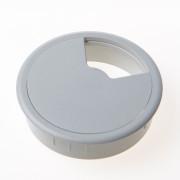 Kabeldoorvoer buro grijs 80mm