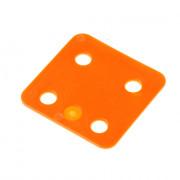GB Drukplaat zonder sleuf oranje kunststof 70 x 70 x 2mm 34702