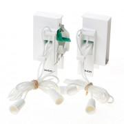 Koordbed.set Ducoklep ventilatierooster 15/26 wit