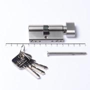 Oxloc Profielcilinder knop dubbel mat nikkel c45/k50 SKG**